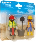Set 2 Figurine Muncitori In Constructii Playmobil