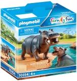Hipopotam Cu Pui Playmobil