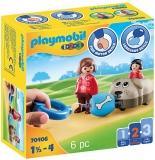 1.2.3 Mama Si Fetita Cu Masinuta Catel Playmobil