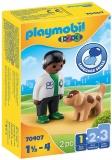 1.2.3 Veterinat Cu Catel Playmobil
