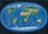 Harta de perete Lumea Panoramica 160 x 120 cm sipci de lemn
