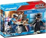 Politist Pe Bicicleta Si Hot Playmobil