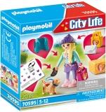 Fetita La Moda Cu Catel Playmobil
