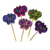 Lumanare decorativa Fluture 7 cm 5 buc/set Big Party