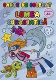 Carte de colorat Lumea subacvatica, A4, 24 pagini