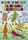 Carte de colorat Olimpiada legumelor, A4, 24 pagini