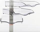Suport stocare CopySwinger III, 3 tavi plastic, gri deschis Novus