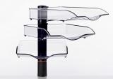 Suport stocare CopySwinger III, 3 tavi plastic, antracit Novus