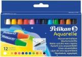 Creioane cerate rotunde Aquarelle 12 culori/set Pelikan