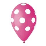 Baloane  All Around Pois Fuxia 100 buc/Set  Big Party