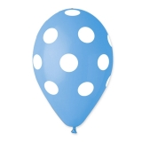 Baloane  All Around Pois Turcoaz 100 buc/Set  Big Party