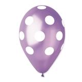 Baloane  All Around Pois Violet 100 buc/Set  Big Party