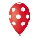 Baloane  All Around Pois Rosii  100 buc/Set  Big Party