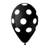 Baloane  All Around Pois Negre  100 buc/Set  Big Party