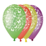 Baloane All Around Fluturi albi Diverse Culori 100 buc/Set Big Party