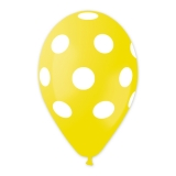 Baloane All Around Pois Galben 100 buc/Set Big Party