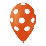 Baloane All Around Pois Portocaliu 100 buc/Set Big Party