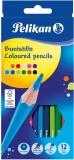 Creioane colorate 12 culori/set Pelikan