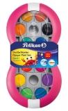 Acuarele 12 culori 735 SP/12 detasabila magenta Pelikan