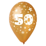 Baloane  All Around Aniversare 50 de Ani 100 buc/Set Big Party