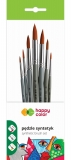 Pensula set 7 bucati/set, rotunde, Happy Color