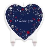 Lumanare Decorativa 12 x 12 cm Love Message Big Party