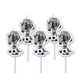 Lumanare decorativa Zebra alb/negru 8 cm 5 buc/set Big Party