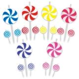 Lumanare decorativa Acadele mari Diverse culori 18 cm 3 buc/set Big Party