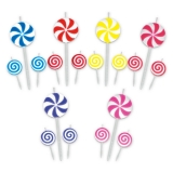 Lumanare decorativa Acadele mici diverse culori 16 cm 3 buc/set Big Party