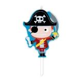 Lumanare decorativa Cartoon Pirati 9 cm Big Party
