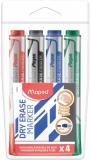 Marker whiteboard 4 culori/set, Marker Peps Jumbo Maped