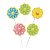 Lumanare decorativa Flori 8 cm 5 buc/set Big Party
