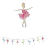 Ghirlanda din Hartie cu insertie de Tul I Love Ballet 300 x 30 cm Big Party