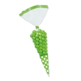Saculet Conic 25 cm Pois Verde 10 buc/Set Big Party