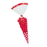Saculet Conic 25 cm Pois Rosu 10 buc/Set Big Party