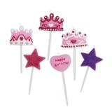 Lumanare decorativa Princess 6 cm 6 buc/set Big Party