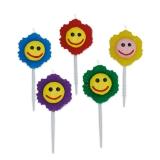 Lumanare decorativa Flori cu zambet 5 cm 5 buc/set Big Party