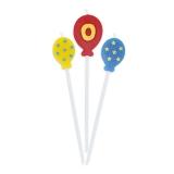 Lumanare decorativa Baloane 16 cm 3 buc/set 0 nr Big Party