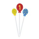 Lumanare decorativa Baloane 16 cm 3 buc/set nr 1 Big Party