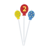 Lumanare decorativa Baloane 16 cm 3 buc/set nr 2 Big Party