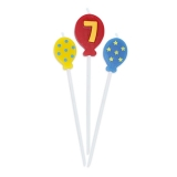 Lumanare decorativa Baloane 16 cm 3 buc/set nr 7 Big Party