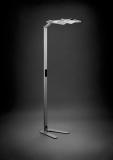 Lampa de podea LED Attenzia Space Active HCL, 93 W, 10600 lm, 240V, 2700K-6500k, argintiu Novus