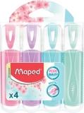 Textmarker Fluo Peps Classic Pastel diverse modele 4 culori/set Maped