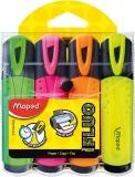 Textmarker Fluo Peps, 4 culori/set, Maped