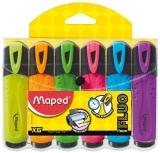 Textmarker Fluo Peps, 6 culori/set, Maped