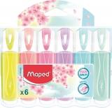 Textmarker Fluo Peps Classic Pastel 6 culori/set Maped