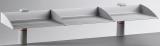 Suport stocare BoardMaster clema universala 1, 3 compartimente, gri Novus