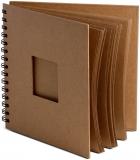 Album cu spirala, 20 x 20 cm, maro, 180 gsm, 30 file, Window, Happy Color