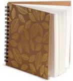 Album cu spirala, 30 x 30 cm, ivory, 180 gsm, 30 file, Golden Leaves, Happy Color