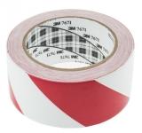 Banda autoadeziva de marcat locatie 50 mm x 33 m 3M rosu/alb